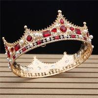 New glitter Baroque Diametro Grande cristallo corona floreale squisita groom di affascinante tiaras bellezza Pageant Bride Accessori per capelli da sposa Y1130