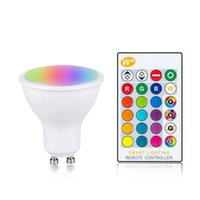 Magic RGB Lampadina LED Lampadina GU10 E27 B22 AC85-265V Smart Lighting Lampada Lampada Colore Dimmerabile con telecomando IR 10W 15W 20W Light