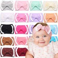 20 cores pano bigbands bigbands lace cor pura meninas big bow faixa de cabelo crianças 5inch Natal elástico moda headwear acessórios 2 5JF G2