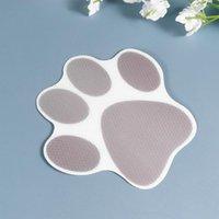 Tapetes de banho 10 pcs Dog PetPrint adesivos Decalques de prevenção de banheira dos desenhos animados Pastores de cuba auto-adesivo (cinza)