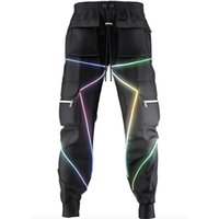 Апрель Momo мужская светоотражающая ночь бегущая спортивные боковые карманы грузовые гаремы Joggers брюки мода повседневные брюки 201218