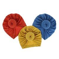 새로운 INS 18 색상 새로운 패션 도넛 머리띠 탄성 코튼 단색 헤어 액세서리 비니 모자 멀티 컬러 아기 어머니 가족 모자