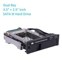 컴퓨터 케이블 커넥터 듀얼 베이 USB 3.0 포트 SATA III 하드 드라이브 HDD SSD 트레이 캐디 내부 모바일 랙 인클로저 도킹 스테이션 3.5