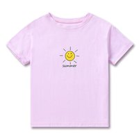 Children jostle short sleeve T - shirt fashion casual smilin...