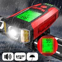 دراجة ضوء الدراجة الأمامية ضوء 3 في 1 الدراجات العلوي للماء مضيا USB قابلة للدراجات القابلة لإعادة الشحن دراجة الاكسسوارات الدراجة Q1202