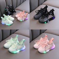 أحذية الأطفال تنفس الأطفال القابلة للتنفس الأطفال Taiji ShoesArts LED تدريب الأحذية Oxbow Soled Sports الربيع والخريف