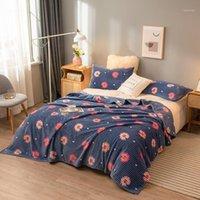 Weiche dicke MicroPlush Bettdecke All Saison Flauschige Mikrofaser-Fleece-Wurfdecke für Sofa-Couch Solide Cover1