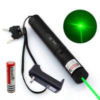 Penna del puntatore della laser verde militare di 10 miglia 5mw 532nm Potente giocattolo del gatto + batteria 18650 + caricabatterie DZ25