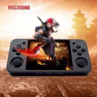 Jugadores de juegos portátiles RG350M Consola Player Player incorporado 2500 juegos de 3.5 pulgadas IPS Pantalla Música HD Salida HD TF Tarjeta Slot 3.5mm Audio