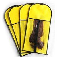 غير المنسوجة حقيبة التخزين الباروكة 29 * 60 سنتيمتر أسود أبيض أحمر الشعر الجمال الباروكة الغبار حقيبة المحمولة دعوى حقيبة كيس