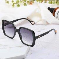 Gafas de sol Oversize Mujeres Cool Square Marco Decoraciones Metal Simple Estilo Unisex Eyewear UV400 Gafas De Sol Muyer 9060