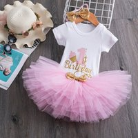 Baby Girl 1 year birthday Tutu Dress Toddler Girls 1st Birthday Party Christening Outfits Princess Costumes for 12 months Girls Q1223