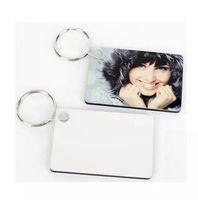 التسامي فارغة المفاتيح نقل الحرارية على الوجهين مفتاح حلقة رئيسية بيضاء ديي هدية متعددة الأشكال المفاتيح مفتاح قلادة LLA77