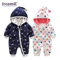 Jumpsuits Ircomll Est Top Quality Bebê roupas de bebê moletom com capuz algodão macacão 2021 Primavera Lucky Child Costume1