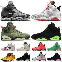 Nike Air Retro Jordan 6 Travis Scott 6 6s Jumpman 6 Tech Chrome Hare 6 mujeres zapatos de baloncesto del Mens del para hombre zapatillas de Formadores