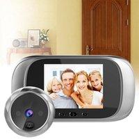 "DD1 Vidéo Doorbell 2.8 ""LCD Sécurité sans fil Bell Enregistrement Visual Home Monitor Moniteur IR Night Vision Interphone Porte téléphone"