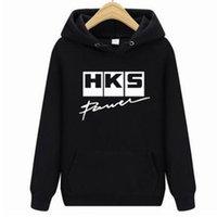Livraison Gratuite Fashion Marque Voiture Auto HKS Hommes Coton Sleeve Taille Taille Sweats à capuche Tops Tees Homme Casual Hiphop Sweatshirts C1116