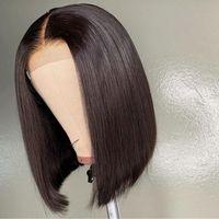 Прямые боб парики Highlight 4/27 Omber Color 4x4 кружевное закрытие парик человеческие волосы шнурки передних париков Предварительно сортенные полные кружевные волосы