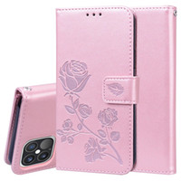 Rose Flower Wallet Phone Case für iPhone 12 Mini 12 11 Pro Max iPhone XR xs max 6 7 8 plus 360 Schutzfälle