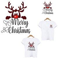Weihnachtshirsch Geschenkstreifen Thermo-Aufkleber Kleidung Anwendung von einem hitzeempfindlichen Flecken Eisen auf Transfers für Kleidung