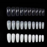 500 قطعة / الحقيبة الطبيعية أبيض كاذبة الأظافر نصائح باليرينا كامل / نصف غطاء التابوت وهمية الأظافر الفن مانيكير أدوات الاصطناعي الأظافر وهمية