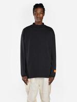 2020 новые дизайнеры футболки мужские тройники хип-хоп бренд улица длинная рубашка 3d писем печатает хлопок экипаж шеи с коротким рукавом длинные рукавы рубашки