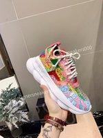 Versace 2021new Erkekler Paris Rahat Ayakkabılar Eğitmenler Baba Ayakkabı Sneaker Siyah Boy Erkek Bayan Beyaz En İyi Kalite Koşucu Chaussures WLGC190715
