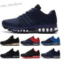 MAX 2017 KPU 2019 وسادة 2017 رجل الاحذية أحذية العلامة التجارية مصمم جودة عالية أحذية رياضية كبو أبيض أسود المدربين الأحذية الرياضية في الهواء الطلق حجم 7-13 RG06