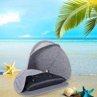الخيام والملاجئ خفيفة الوزن حماية UV الصيف المظلة في الهواء الطلق الشاطئ العملي مع الهواء وسادة المحمولة الشمس المأوى طوي الشخصية fa