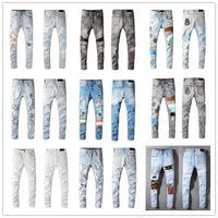 Hot mens moda magro slim slim rasgado jeans homens moda mens rua desgaste motocicleta motocicleta jean homem calça calça tamanho 28-40