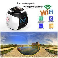 360 degrés Action Caméra HD Ultra Mini Caméra panoramique WIFI 4K 16MP Caméra de sport 3D Conduite VR Caméscope Video Cam Images imperméables 30m