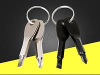 EDC Отвертки для брелок Открытый карманный карман 2 цвета Мини-набор Клавиши кольца отвертка Ключ Форма Филлипс Винт Драйвер щелевые отвертки