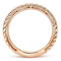 Visisap Simples Anneaux tressés créatifs pour Dame Rose Gold Couleur Corée Style Birty Anniversary Bijoux Fournisseur B22841