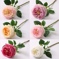 Single Stem Austin Rose High Quality Real Touch Single Moist...