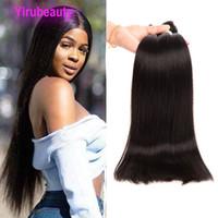 Cabelo humano da Malásia 4 peças / lote 30-38inch Silky Straight Body Wave Cabelo Weaves Virgin Hair Wews Por Atacado Quatro PCs 32 36 38