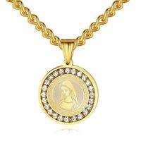HOP HOP HOP HOP HOP ROUTE DE LA VIERGE MARY CATHOLIQUE Religion Sainte Mère de Dieu Madonna Pendentifs avec pierre CZ de haute qualité