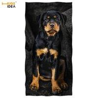 Handtuch Hugsidea Haustier Hund Drucken Duschstrand Sandy Beweis Rottweiler Design Handtücher 3D Tier Yoga Schwimmdecke Mikrofaser