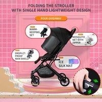 Passeggini # 4 Giveaways Jusanbaby Vista alta leggera 3 in 1 Passeggino Baby Passeggino Pieghevole Bugy Accessori Bugy BUON QUALITÀ 2021