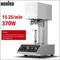 진공 식품 씰링 기계 Xeoleo는 Tinplate Seamer 알루미늄 컵 반자동 링 - 풀 캡핑 370W