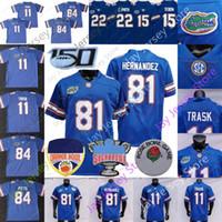 NCAA College Florida Gators Football Jersey 11 Kyle Trask 15 تيم Tebow 22 Emmitt Smith 81 Aaron Hernandez 84 Kyle Pitts