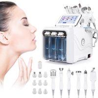 6 em 1 H2 O2 Hydra Facial Oxigênio Dispositivo de Limpeza Facial com Bio Face Levantando Rejuvenescimento de Pele Clareamento Equipamento de Beleza
