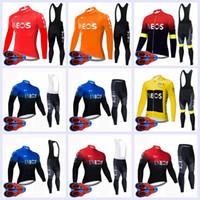 Nova Equipe Ineos 2020 Homens Ciclismo Jersey Bib Calças Conjunto Respirável MTB Roupas Bicicletas Manga Longa Mountain Bike Outfits Ropa Ciclismo Y200724