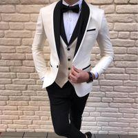 Son Ceket Pantolon Tasarımlar Beyaz Erkekler Düğün Takım Elbise Erkekler için Takım Elbise Erkekler Damat Blazer Smokin Slim Fit Kostüm Pour Hommes Terno Masculino1