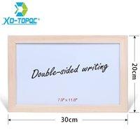 Écriture double face 20 * 30cm Erase à sec Tableau blanc d'Âge original Cadre en bois de pin blanc Panneau magnétique Board pour notes WB40 201116
