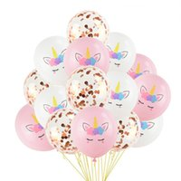 1 Set Party Balloons Birthday Baloon Decoration Latex Confet...