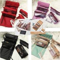 Bolsa de lavagem de armazenamento da maquiagem camada multi funcional coreana 4 em 1 saco de armazenamento cosmético da malha classificado