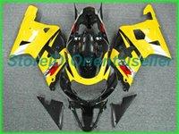 Kit de carénage noir jaune sur mesure pour Suzuki GSXR 600 750 K1 2002 2003 GSXR600 GSXR750 01 02 03 Kit de carénage de la moto