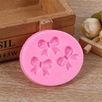 Torta Stampo Bowknots Flower 3D Fondant Stampo Silicone Cake Decorating Tool Cioccolato Sapone Stencil Cucina Cucina Accessori