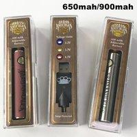 Brass Knuckles Vape Pen Akku 900mAh 650mAh Variable Spannung vorheizen 510 Gewinde Batterie Thick Ölpatrone Batterien Dab-Werkzeug USB-Ladegerät
