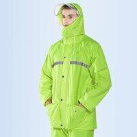Bisiklet Yağmurluk Takım Elbise Motosiklet Açık Havada Su Geçirmez Yağmurluk Çift Kalınlaşma Ölçekli Unisex Yağmurluk Yağmur Dişli BE50RC J1211
